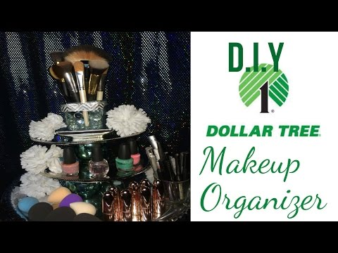 $12 DIY Dollar Tree Makeup Organizer. Affordable Vanity Storage Solution.