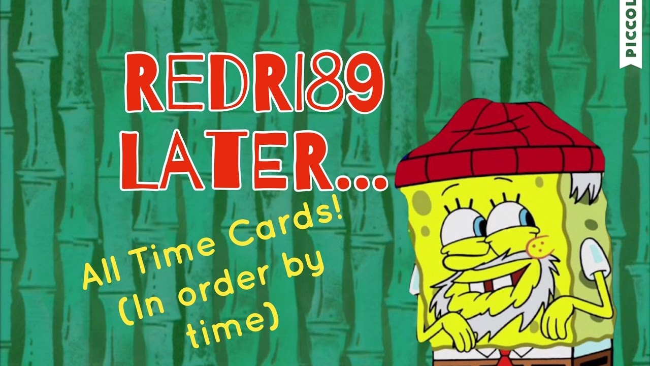 All Spongebob Time Cards In Order By Time Youtube