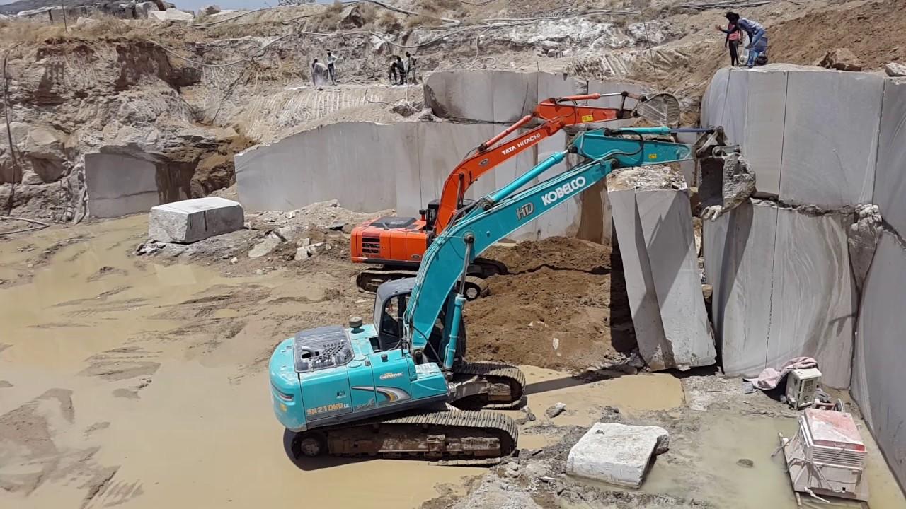 Tata hitachi 220zaxis Quarry and kobelco 210 Part 2