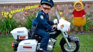 Little Heroes Kid Motorz Police Motorcycle Kid Cops Honey Bandit Video Parody