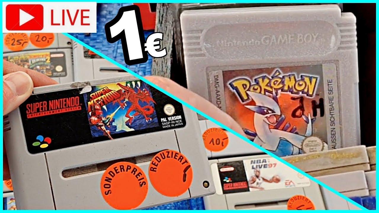 LIVE Flohmarkt geht wieder los! / Retro Games für 1€ auf dem ersten Flohmarkt des Jahres / Resell