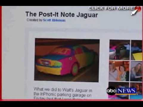 hqdefault the original post it note car 14000 sticky notes on a jaguar youtube