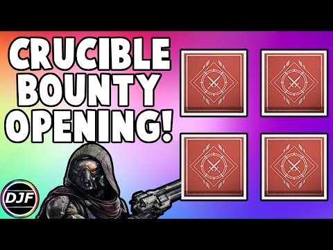 Destiny: Crucible Bounty/Package Opening! | 2 Shaxx & 8 Quartermaster Bounties! (Age of Triumph)