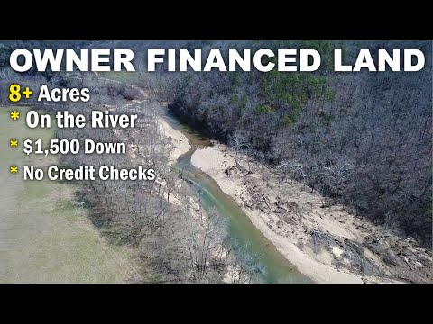 $500 down owner financing - 8 acres w/ rock building on river - www