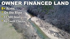 $500 down owner financing - 8 acres w/ rock building on river - www.InstantAcres.com - ID#BC03