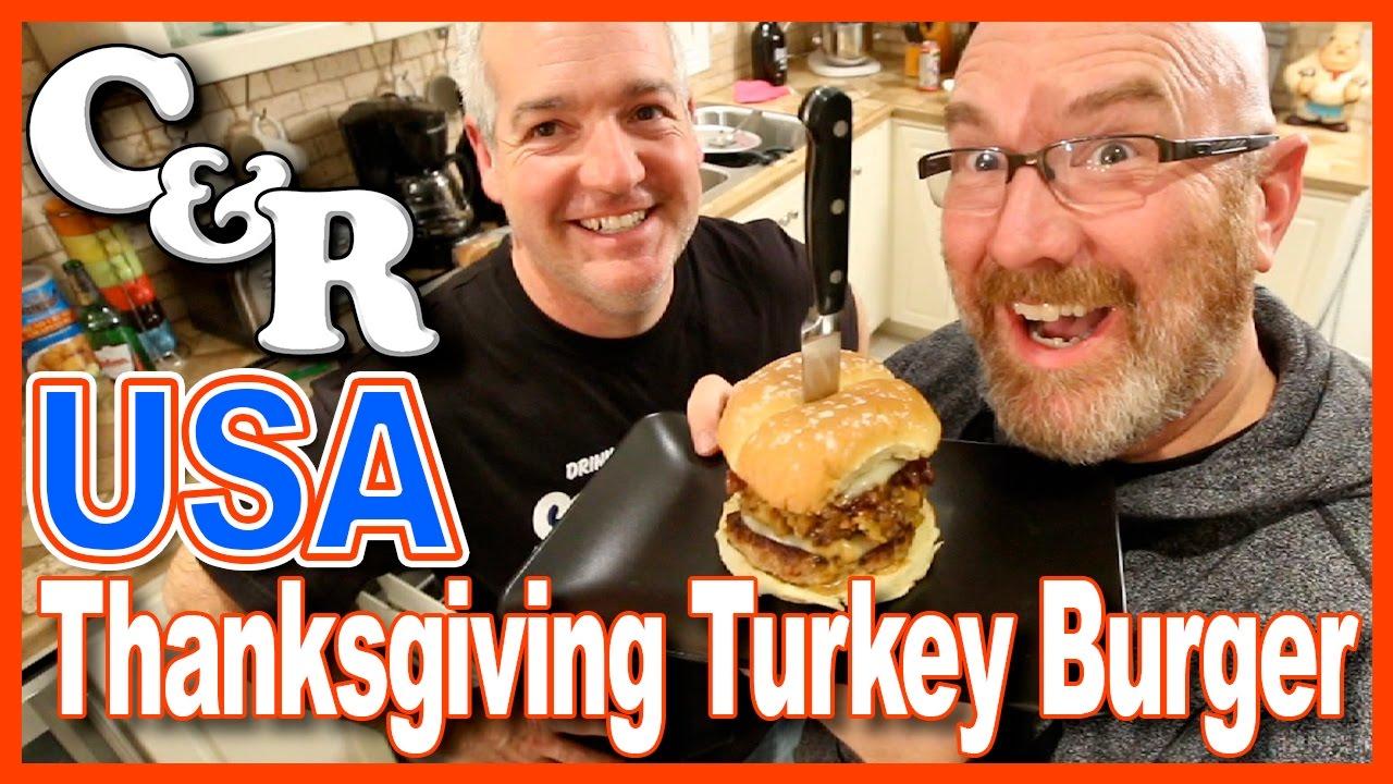 USA Thanksgiving Turkey Burger Recipe - Cook & Review Ep #31
