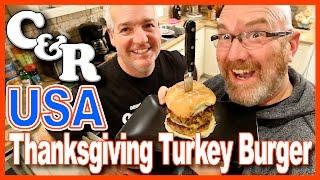 USA Thanksgiving Turkey Burger - Cook & Review | KBDProductionsTV