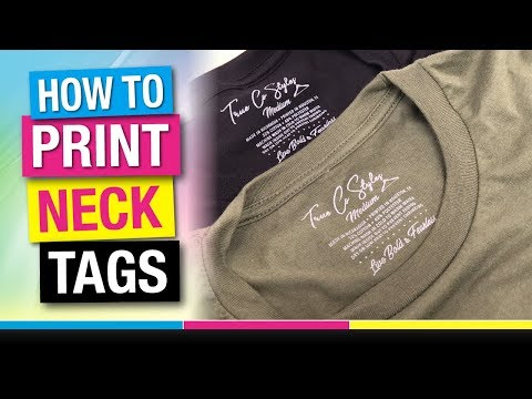 How to Screen Print T Shirt Neck Tags and Remove Sewn in Labels