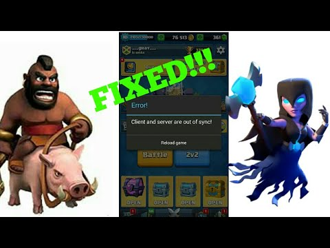 CLIENT SERVER OUT OF SYNC (error) FIXED | CLASH ROYALE | GAME FIX | GRAY GAMING