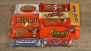 American Candy Bar Review | Test | Unboxing | Reese