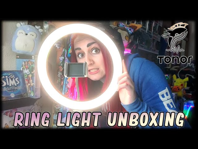 💡Unboxing & Testing the Tonor Selfie Ring Light w/Tripod Stand // My First Impressions