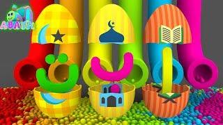 Learning Arabic Alphabet Alif Ba Ta Full Colors | Islamic Education for Kids | Abata Channel