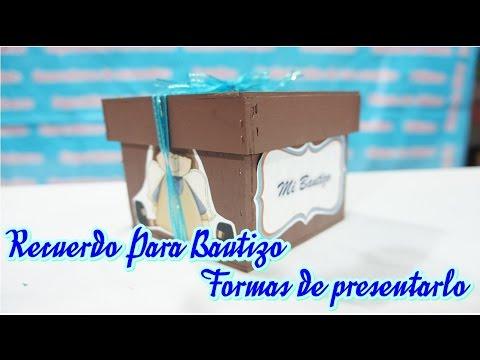 Cajitas Recuerditos Para Bautizo.Caja Recuerdo Para Bautizo Idea Youtube