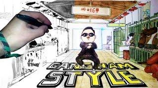 In paper.. Gangnam Style - Drawing 강남스타일 20k!