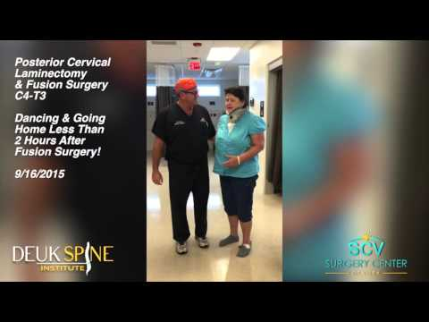 Carla - Dancing Just 2 Hours After Posterior Cervical Laminectomy & Fusion Surgery