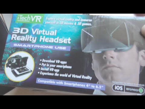 Unboxing iTech VR 3D Virtual Reality Headset for iPhone