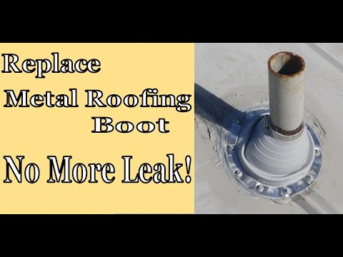 Replace Problem Metal Roofing Boot - No More Leak in 5V crimp Roof