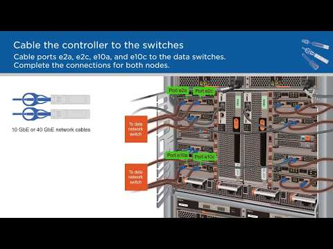Cabling a two-node AFF A700 or FAS9000 switchless cluster on