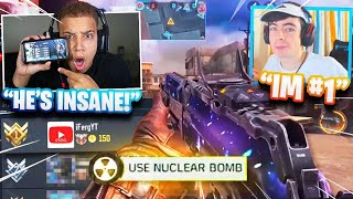 He's the real #1 on COD Mobile Leaderboards & I challenged him.. (Nuke Race)