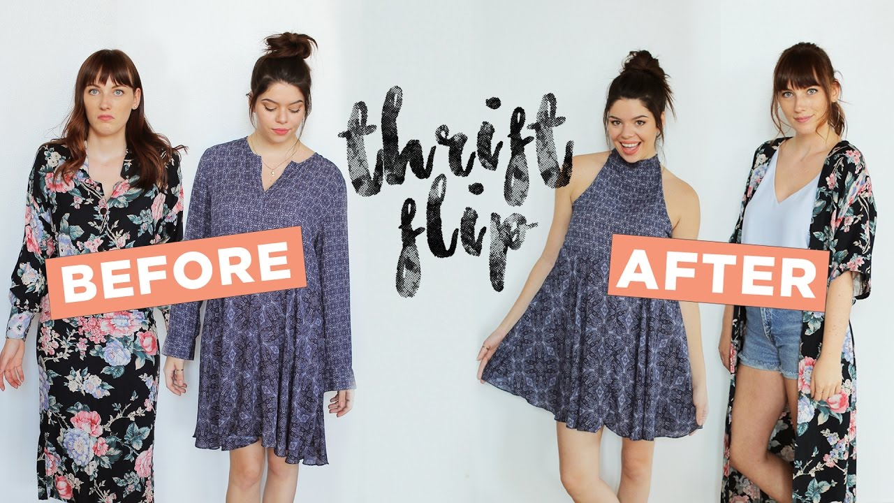 Let S Makeover Some Thrift Dresses