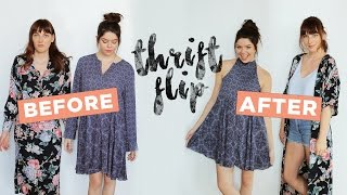 LET'S MAKEOVER SOME THRIFT STORE DRESSES!