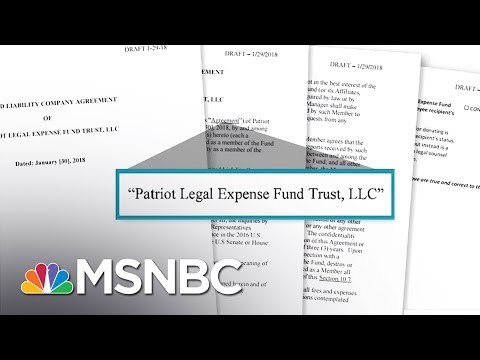 Apparent President Donald Trump Staff Legal Defense Fund Uncovered | Rachel Maddow | MSNBC
