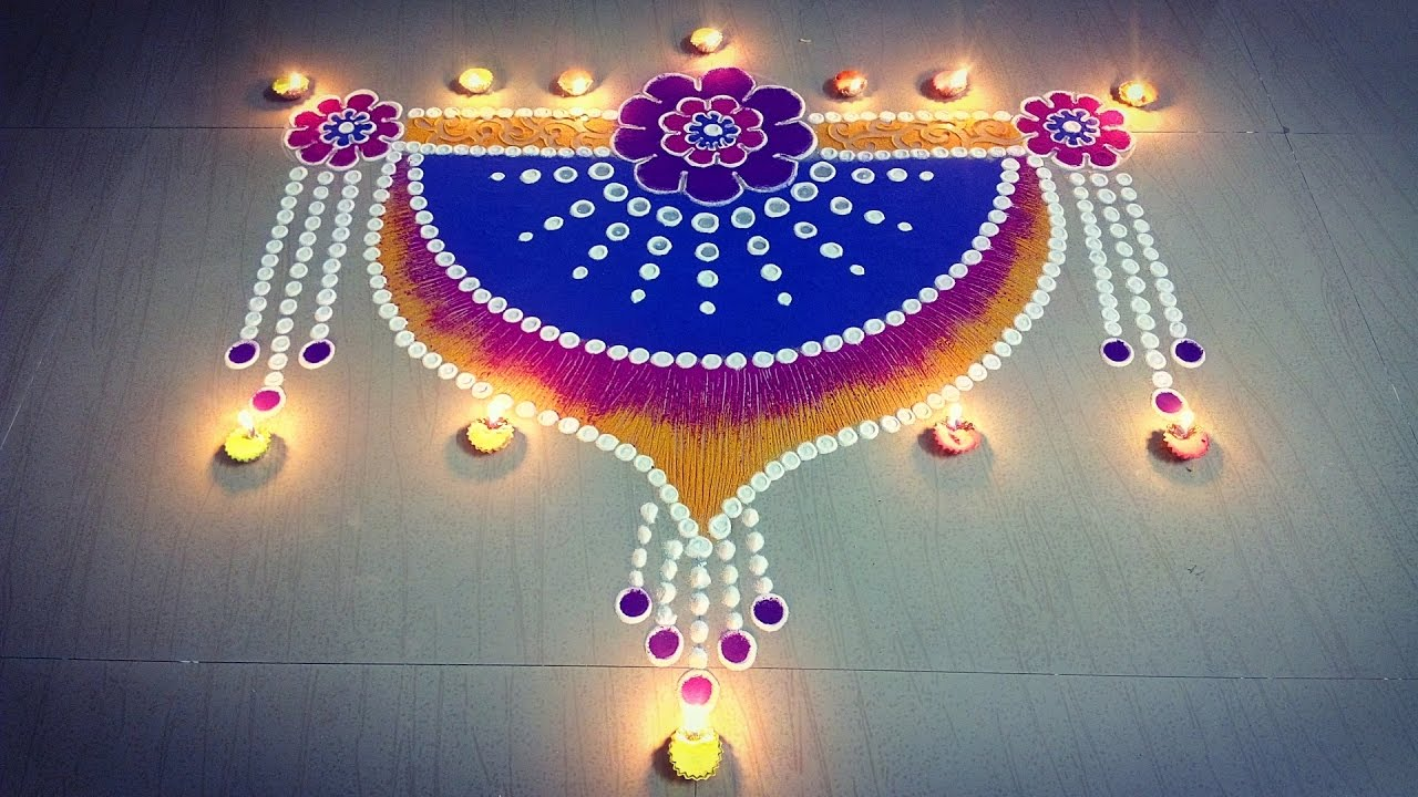 beautiful door rangoli design door kolam design door