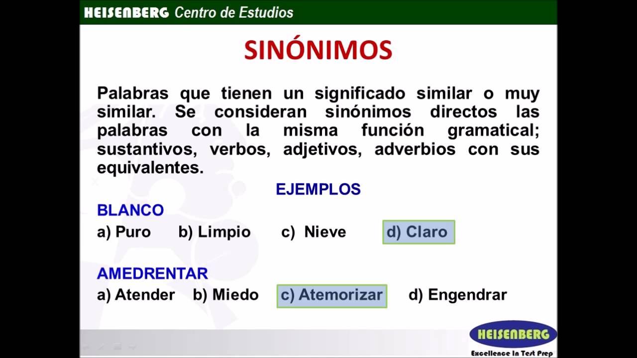 RV 01 Sinonimos - YouTube - photo#32