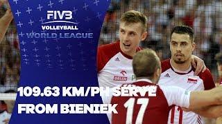 109.63 KM/PH Serve from Poland