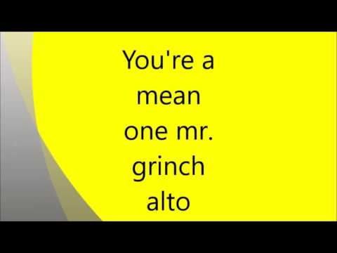 you're a mean one mr  grinch alto mp3