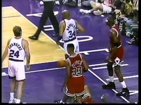 Michael Jordan 42 pts,12 reb,9 ast vs Charles Barkley 42 pts,13 reb, nba-finals 93, game 2