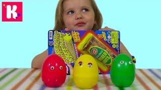 Дикие животные заводные в яйцах сюрприз игрушки распаковка animals toys plastic surprise eggs
