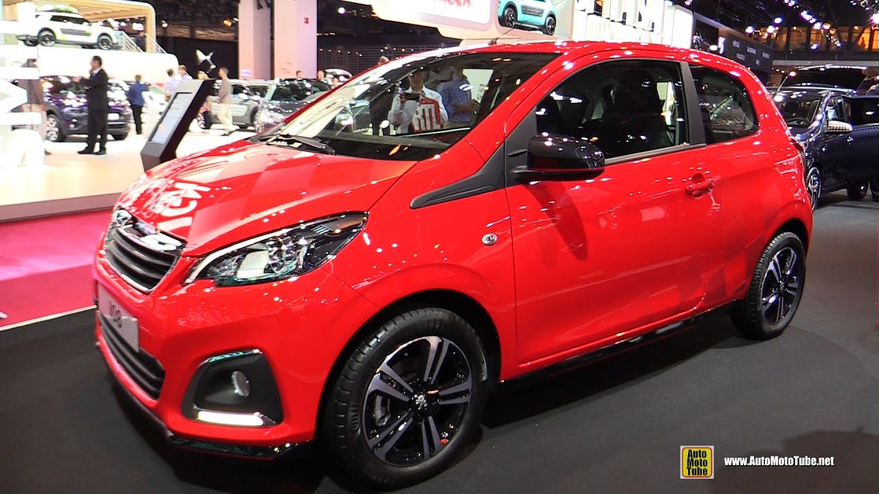 2015 peugeot 108 allure 1 0l exterior and interior walkaround 2014 paris auto show youtube. Black Bedroom Furniture Sets. Home Design Ideas