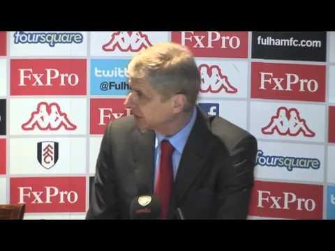 Fulham vs Arsenal - Wenger post-match reaction