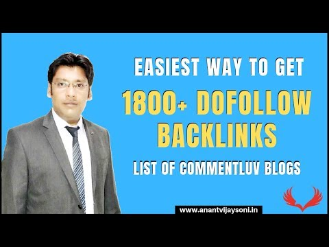 Free 1800+ High-Quality Dofollow Backlinks List | High DA PA Sites | List Of CommentLuv Blogs 2020