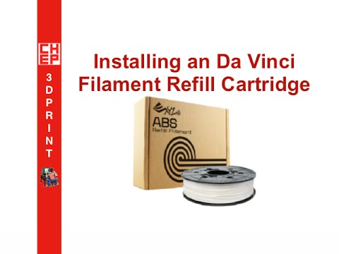 XYZprinting Refill Cartridge Installation for Da Vinci 1 0 - Video #061