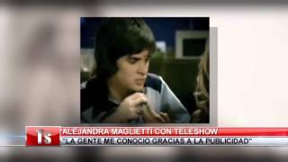 Los primeros pasos de Alejandra Maglietti en su carrera