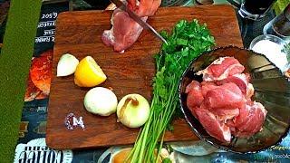 ШАШЛЫК  В  КВАРТИРЕ. Шашлык дома. Как приготовить шашлык на кухне.