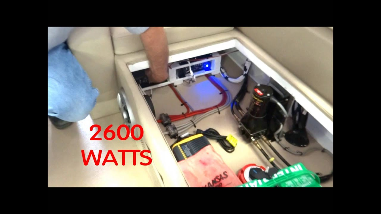 wetsounds marine audio in a pontoon boat oklahoma city pontoon stereo system [ 1280 x 720 Pixel ]