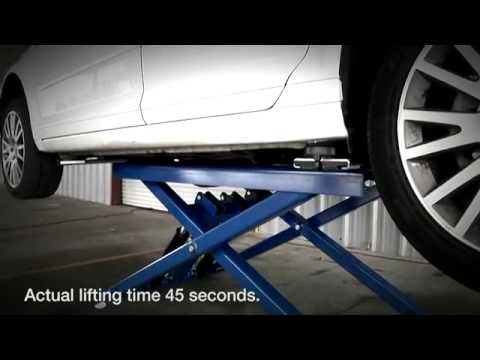 Bendpak P6 >> Bendpak Md 6xp Mid Rise Car Lift Portable Scissor Lift Youtube