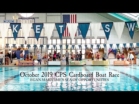 2019's CPS Cardboard Boat Race at the Nantucket Community Pool  