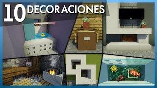 Minecraft: 10 Decoraciones GENIALES y FÁCILES para tu CASA | Tutorial