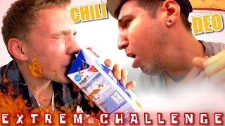 EXTREM CHALLENGE! Deo ins Gesicht, Chili Soße... +BESTRAFUNG