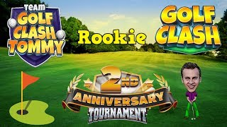 Golf Clash tips, Playthrough, Hole 1-9 - ROOKIE - TOURNAMENT WIND! 2nd Anniversary Tournament!
