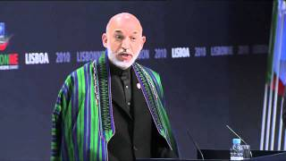 NATO Press Conference / Lisbon: Karzai Defends War Policy