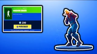 FORTNITE NEW SHADOW BOXER EMOTE! FORTNITE NEW ITEM SHOP UPDATE! FREE VBUCKS SKINS GIVEAWAY