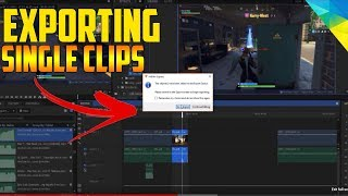 how to export single clips/parts of a video in hitfilm express 2018/2019