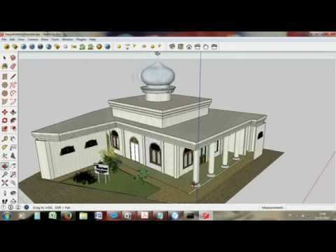 Membuat Gambar Masjid Ketangi Ds Ketanggung 3d Sketchup