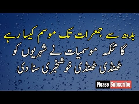 Weather Today Forecasting Pakistan Punjab