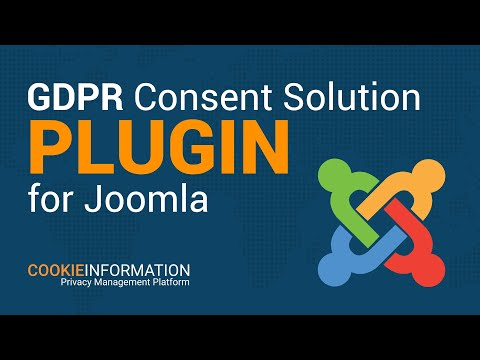 GDPR Consent Solution Plugin For Joomla - Cookie Information